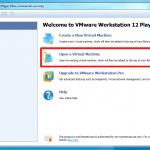 Tela inicial do VMware Player